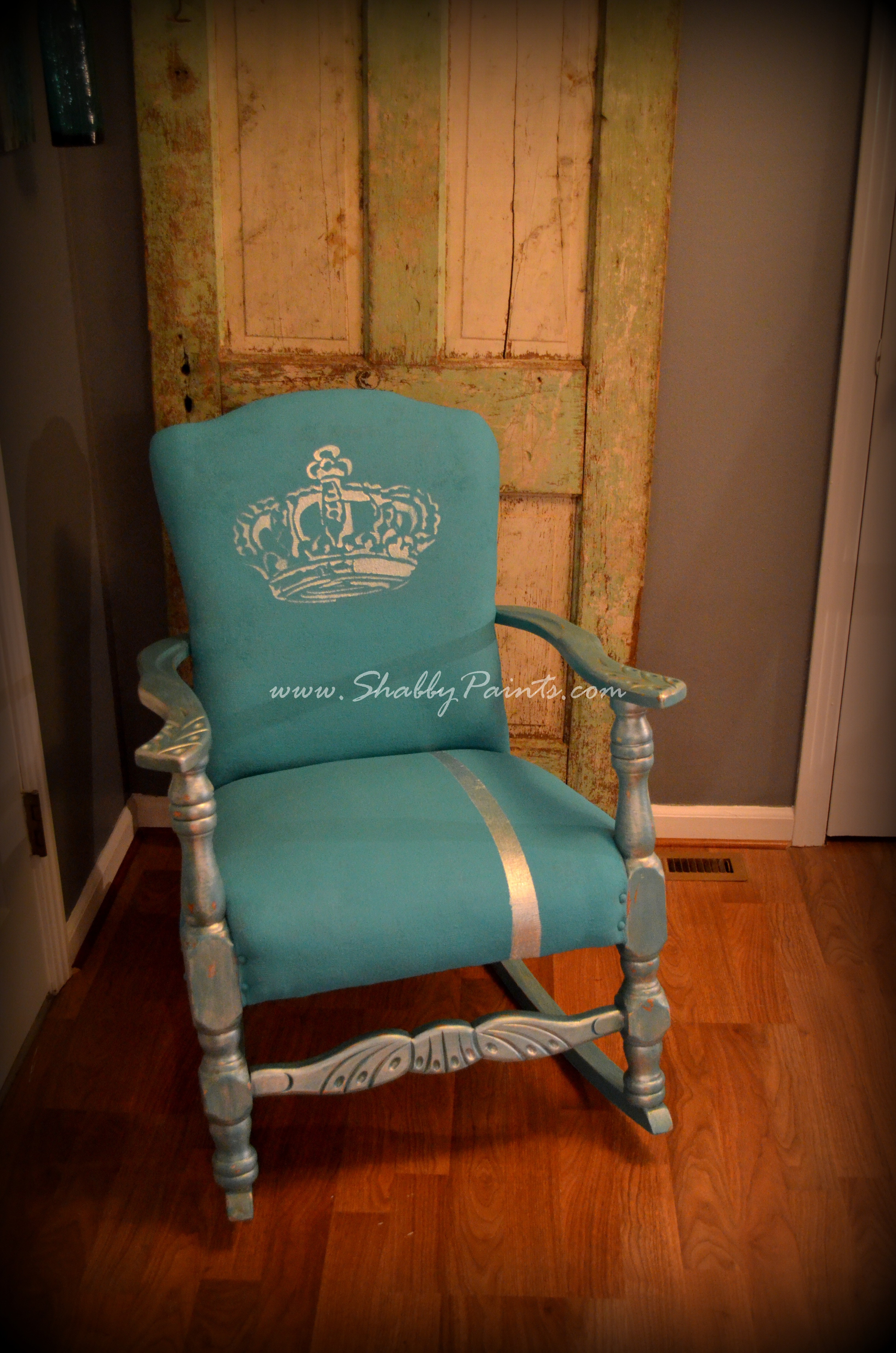 Chalk Painted Fabric Chair Makeover Shabby Paints