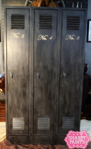 Repurposed School Lockers with Chalked Paint