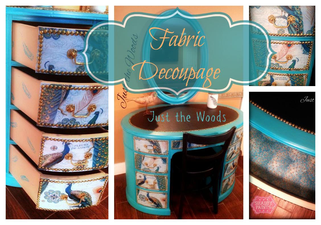 Fabric Decoupage on Furniture