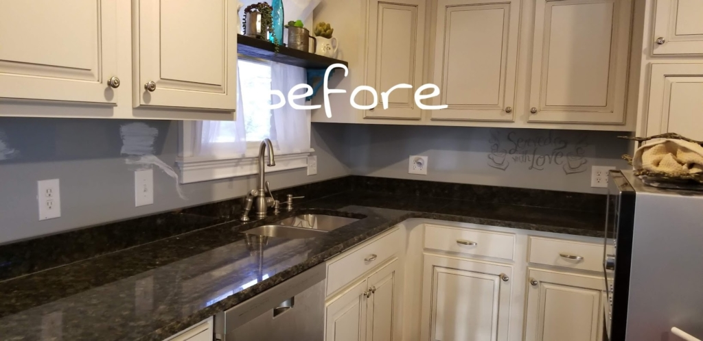 Backsplash Makeover On A Budget Shabby Paints