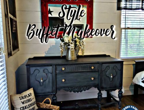 Farmhouse Style Buffet Makeover