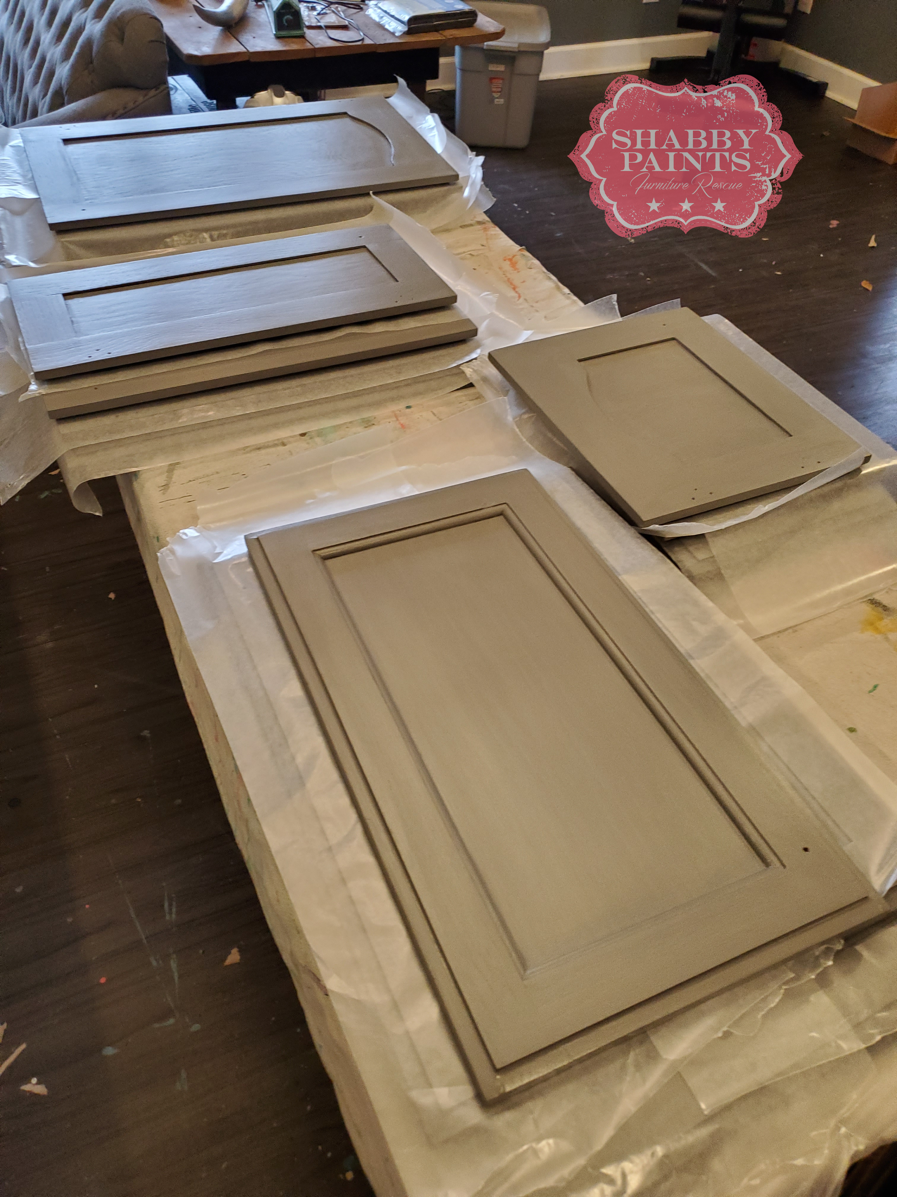 Chalk Painted Kitchen Cabinets