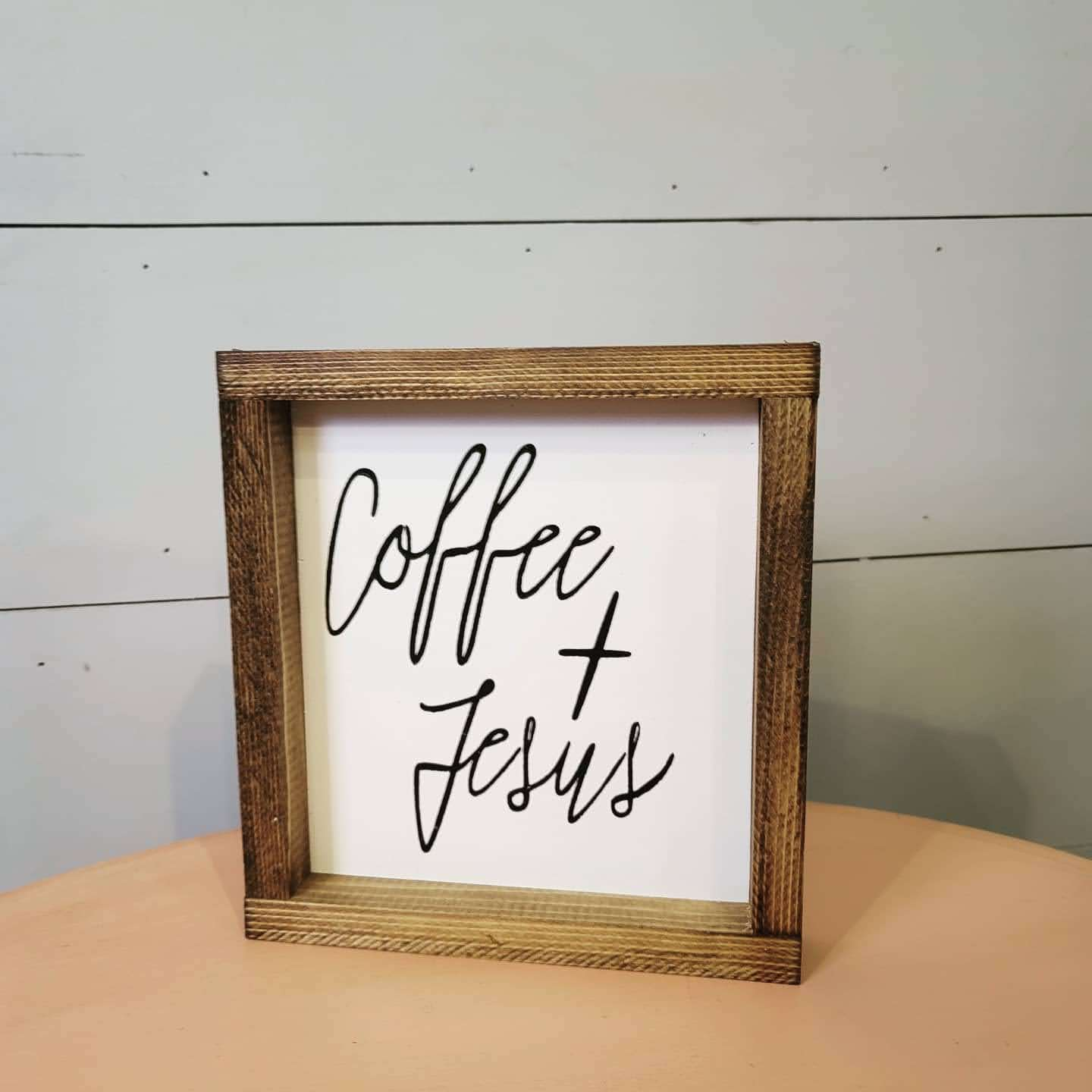 Coffee and Jesus sign made in the USA