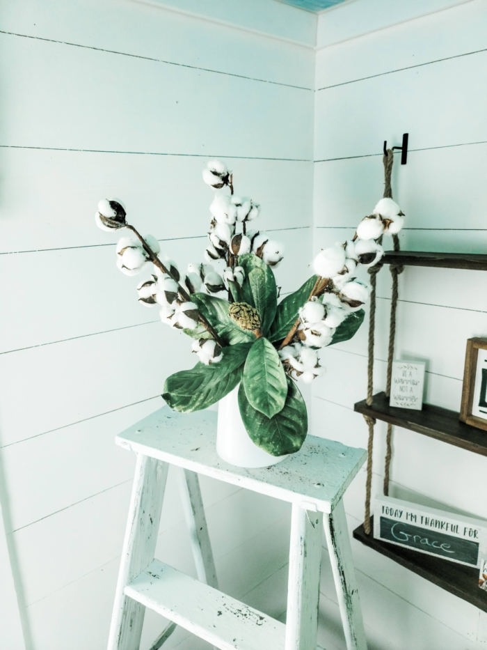 Magnolia cotton arrangement