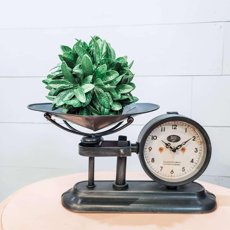Antiqued Scale Clock Replica