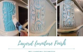 Layered Furniture Finish - Wet Sanding Technique