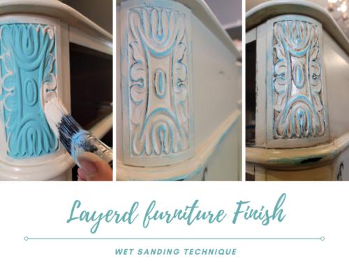 Layered Furniture Finish – Wet Sanding Technique